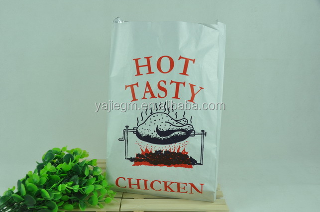 private lable BBQ Kebab hot dog chicken aluminum foil lined paper bag for hot food