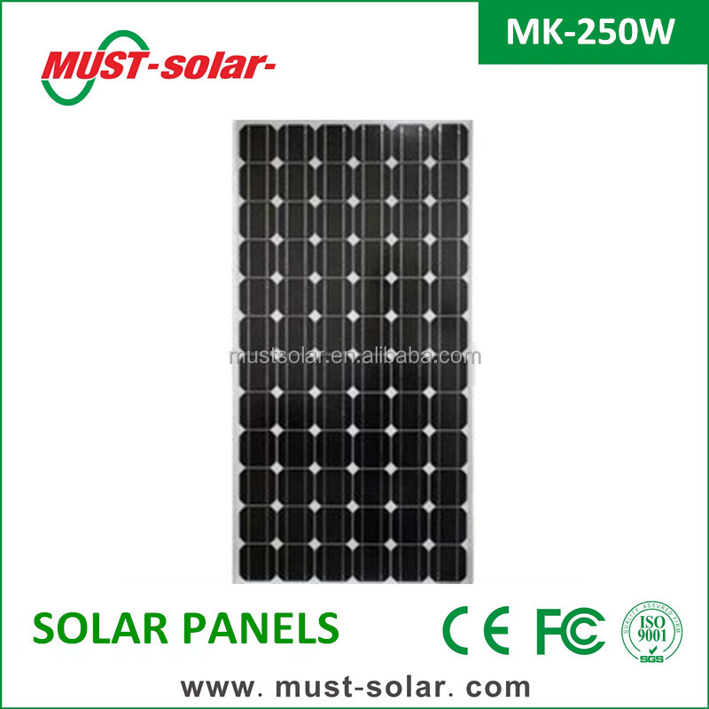 <Must Solar> solar panel 250w mono slicion/poly with TUV, CE good quality made in China
