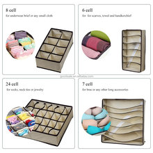 Set of 4 Non-woven Fabric Underwear Closet Drawer Organiser Foldable Wardrobe Storage Box for Bras Socks Ties Scarf