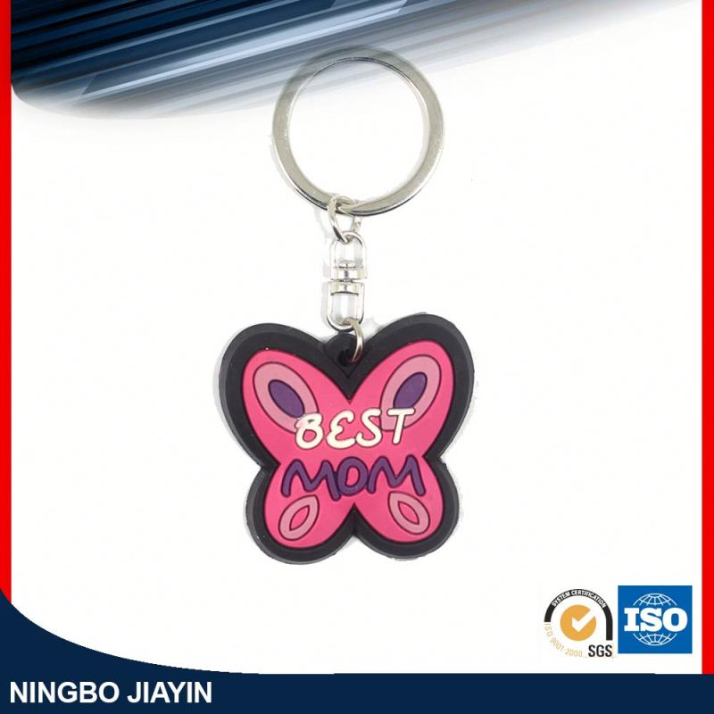 wholesale merry christmas rubber key chains