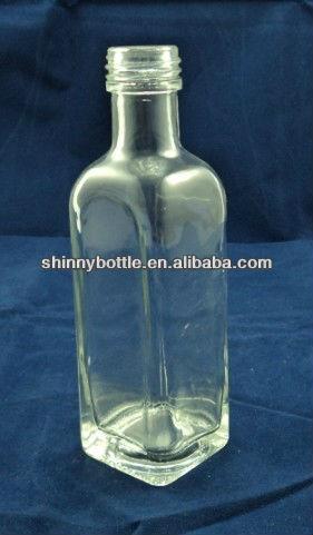 Mini small empty square glass wine bottle buy wine for Empty mini plastic wine bottles