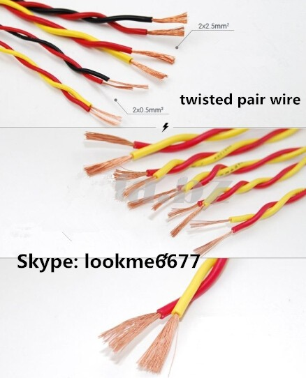 RVS 2 core shielded twisted pair wire cable, View 2 pair telephone ...
