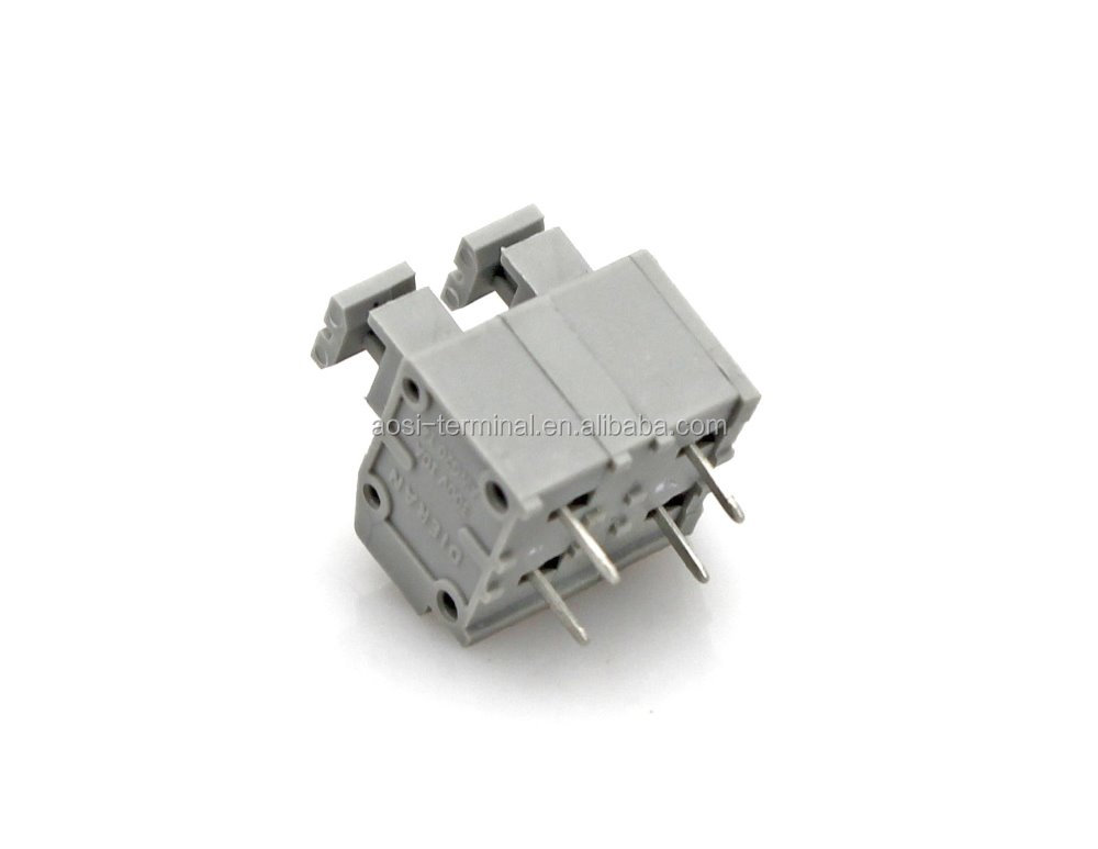 7.5mm pin header vertical offset dual row pin PCB spring terminal block instead of GSL001-7.5