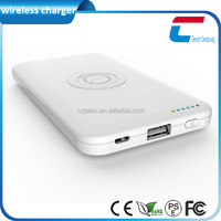 ABS Material High Quality wireless 6000mAh portable power bank charger for Smartphone