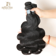Unprocessed Brazilian Virgin Remy Human Hair Extension Body Wave Bundles Deal Natural Black Color Can Be Dyed Bleached