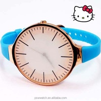 High quality silicone watch slim strap cheapest wrist watch big dial different color bracelet wrist watch