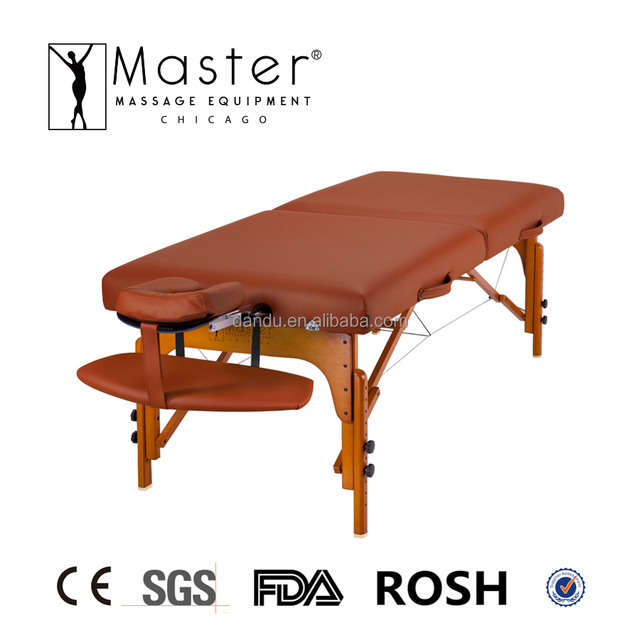 Master Memory Foam Wooden Portable Folding Massage Table