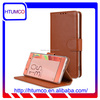 Popular Brown Wallet Stand Premium Leather Case for Sony Xperia XA