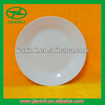 10'' White Melamine Dinner Plate