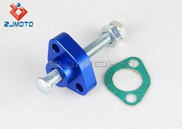 ZJMOTO Aluminum CNC DIY Manual Cam Timing Chain Tensioner Bike Motorcycle Chain Tensioner Suitable to CBR TRX VTR ATV