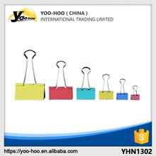 Office and School stationary Metal Coloured binder clips