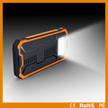 Rohs /CE approved solar power bank 8000 mah sos solar powerbank with led light