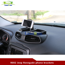 Car Dash Phone 360 Degree Rotate With ABS Storage Box GPS Holder Auto Mobile Stand Kit For Jeep Renegade 2014-2016