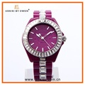 Assisi Fashion Women's Time Teller Cheap Plastic Wrist Watch
