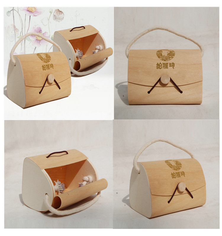 Creative wooden jewelry gift box wooden cosmetic packaging box