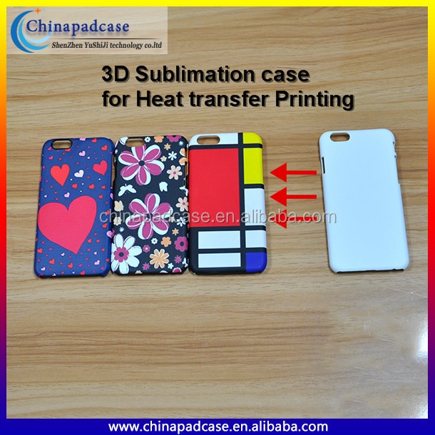 For Heat Transfer Printing 3D blank sublimation case /Matte 3D Sublimation PC back cover case Phone accessories