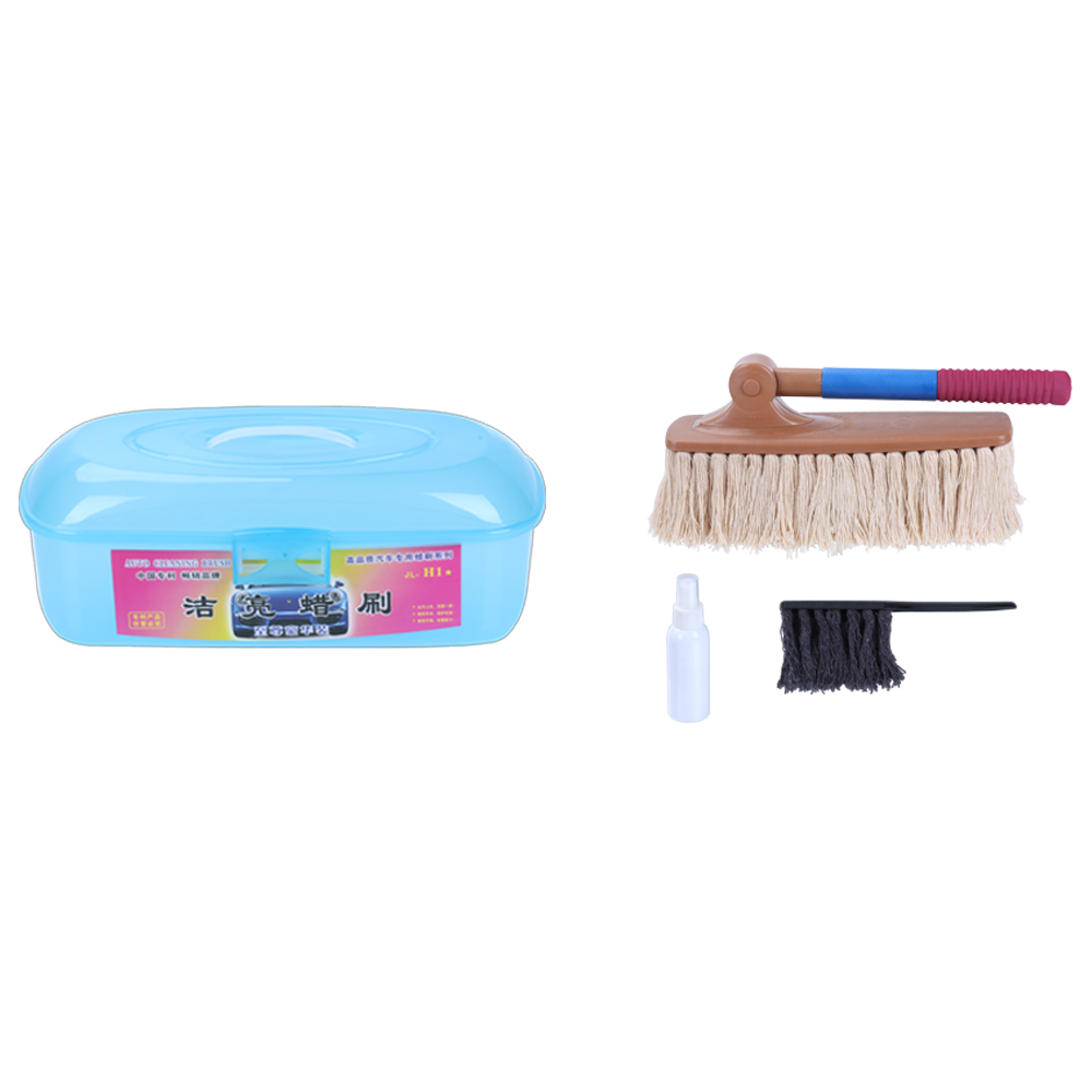 Auto cleaning wax brush for dust removal