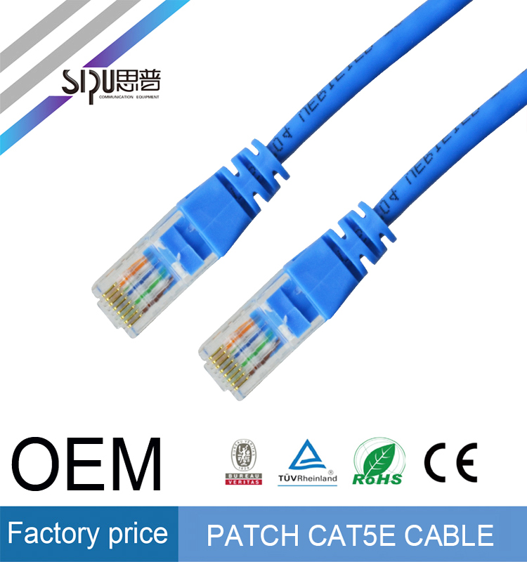 SIPU wholesale 7*0.12 CCA 1m 4 pairs utp cat5e patch cord best price cat5 utp patch cable brand high speed cat 5 utp cable