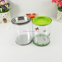 plastic packing clear tin mini cake boxes