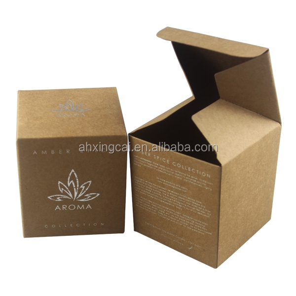 Custom Logo Printed Kraft Paper Crystal Candle Jars Design Packaging Boxes