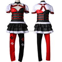 sexy halloween women costume cosplay anime suicide squad harley quinn costume for party