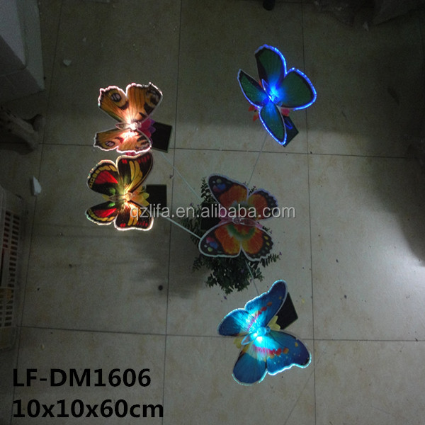 Plastic butterfly optical fiber Plug-in decor