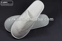 Wholesale white waffle slippers for hotel and airplane