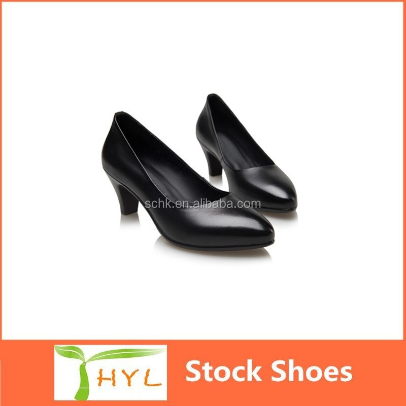 ladies leather shoes guangzhou factory ladies leather flats low heel/high heels dress shoes
