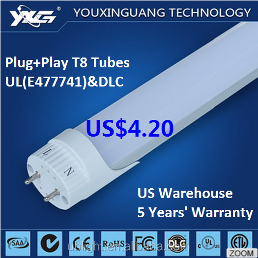 LED Lights 22w 18w 4ft,T8 LED Tube Lamps 36w 50w Fluorescent Bulb Replacement ETL UL DLC 1200mm SMD2835 >105lm/w G13
