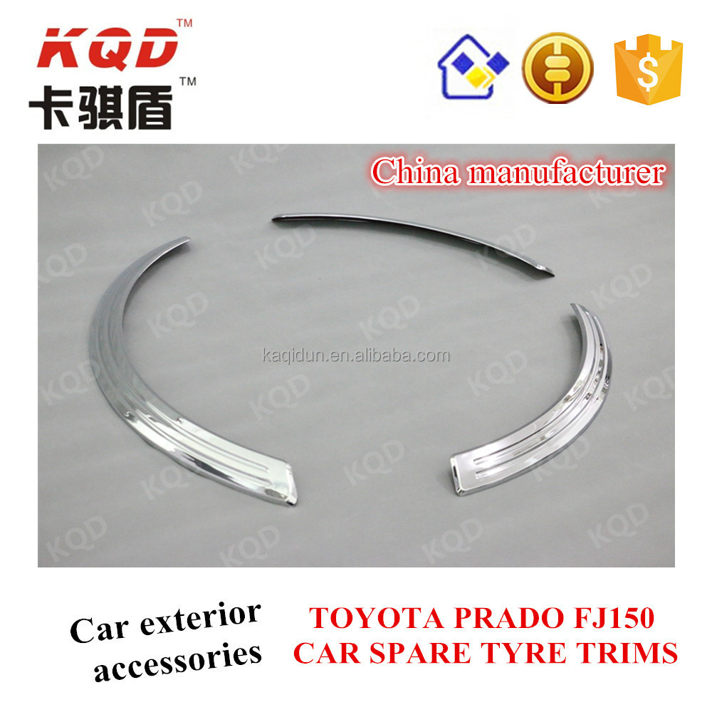 Golden supplier 3 PCS plastic car spare tyre trims for TOYOTA Land cruiser prado accessories best selling auto parts