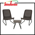 3 Pc All Weather Outdoor Patio Garden Conversation Chair & Table Set Furniture