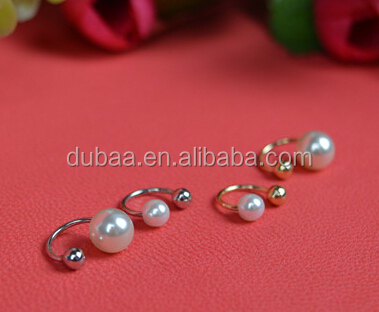 Imitation Pearl Trendy Ear Cuff Silver Gold Ear Clip Cuff Earrings Jewelry Accessories Ornament