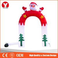 Attractive Cheap Inflatable Santa Claus Arch for Sale
