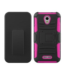 3 in 1 hybrid case for Alcatel one touch fierce 4 5056 mobile phone;kickstand cover for Alcatel fierce 4 holster case