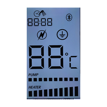 Pumping Machine 22 digit LCD display transparent small segment lcd e-ink display for industrial control display