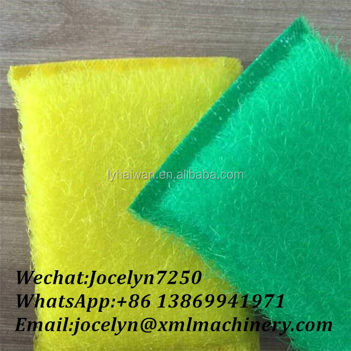 Cheap price cloth sponge scrubber with 120*90*25mm hot sale silk cleaning scourers for sale
