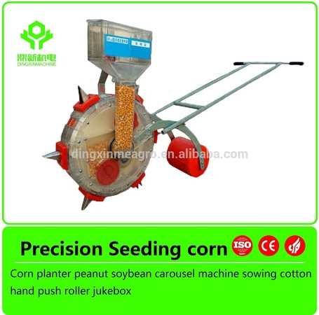 Walking behind Hand push light corn 1 row bean hand seeder