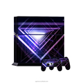 Top quality 3D space pattern trangle vinyl sticker cover for ps4