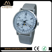 China factory Axgero OEM luxury moon phase quartz watch for man