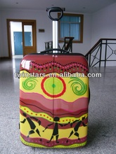 PC+ABS printing trolley bag.hard luggage.cartoon priting,new style,big capacity luggage