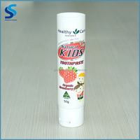 High quality 30mm diameter 50g white color empty plastic toothpaste tube round food grade plastic tube for baby