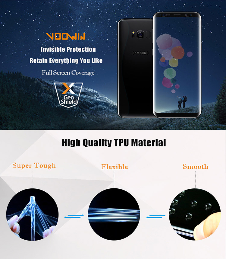 Voowin Full Cover TPU Screen Protector For Samsung Galaxy S8 Screen Protector Film