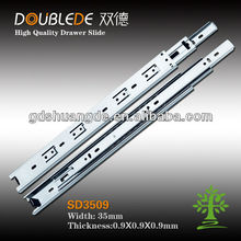 35mm cabinet kitchen keyboard 3-fold ball bearing drawer slide/telescopic channel railing track