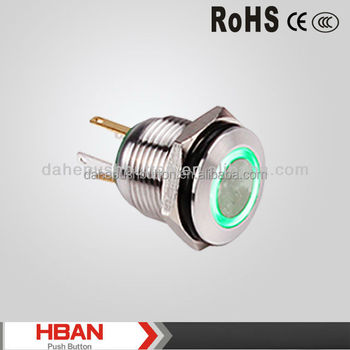CE ROHS Wholesale factory optional function Momentary Ring LED push button switches