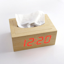 Small Gift cute Wood Alarm table Clock,wooden stand clock in china