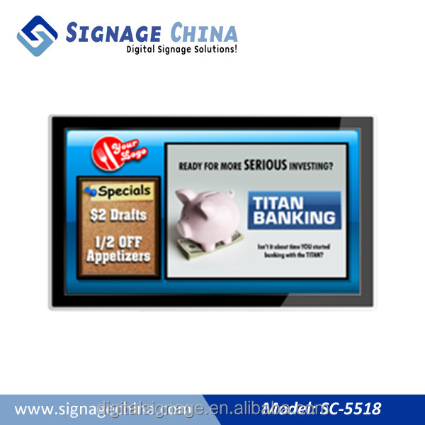55'' Android LCD Wall Mounting Touch Screen Kiosk