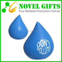 Promotion Blood Drop Shape PU Anti Stress Reliever Ball