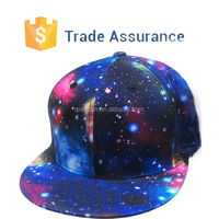 Galaxy All Over Full Print Snapback Hat Trucker Cap /Custom Fashion Design Printing Oem Snapback