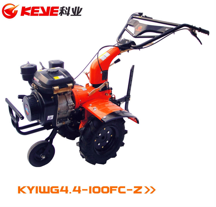 KEYE 5Hp Diesel Engine Powered Mini Tiller with All Gear Drive (Multi-Functional Diesel Tiller)