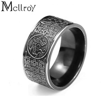 Mcllroy 2019 stainless steel jewelry Gothic Antique Ring Black Titanium Steel Monster Vintage Ring for man men's ring